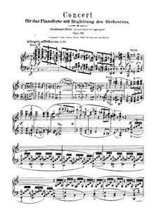 Concerto for Piano and Orchestra in A Minor, Op.54: Movement I – piano solo part by Robert Schumann