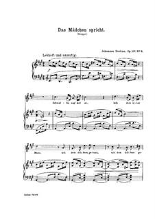 Five Songs, Op.107: Nr.3 Das Mädchen spricht by Johannes Brahms