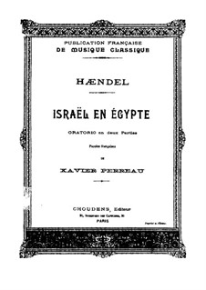 Israel in Egypt, HWV 54: Piano-vocal score by Georg Friedrich Händel