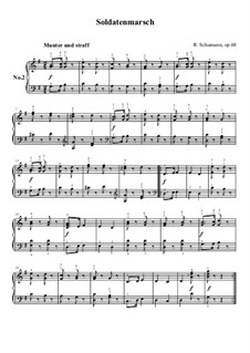 No.2 Soldatenmarsch (Soldiers' March): For piano by Robert Schumann