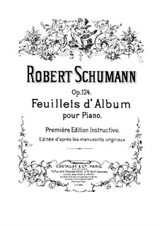 Album Leaves, Op.124: Complete set by Robert Schumann