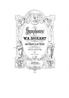 Symphony No.41 in C Major 'Jupiter', K.551: For two pianos four hands by Wolfgang Amadeus Mozart