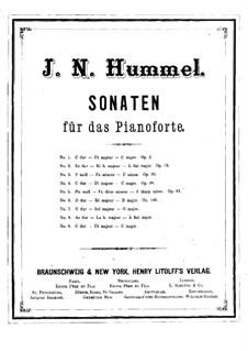 Nine Sonatas for Piano: Nine Sonatas for Piano by Johann Nepomuk Hummel