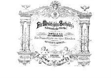 Musik zu Athalia (Music to Athalie), Op.74: For piano four hands by Felix Mendelssohn-Bartholdy