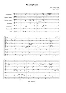 Amazing Grace: For brass ensemble (or orchestra) by folklore