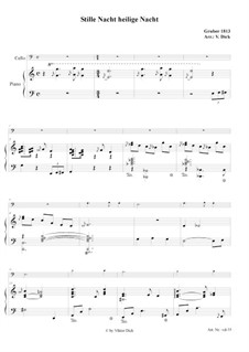 Silent Night (Downloadable): For cello and piano by Franz Xaver Gruber