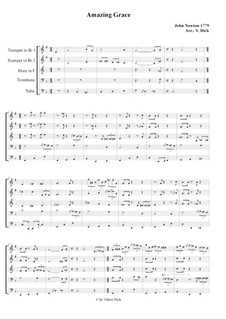 Amazing Grace: For brass quintet by folklore