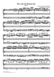 Wo soll ich fliehen hin, BWV 5: For organ by Johann Sebastian Bach