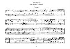 Two Pieces from Suite by G. Telemann: Courante by Johann Sebastian Bach