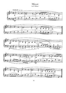 Minuet in G Minor for Harpsichord: Minuet in G Minor for Harpsichord by Johann Sebastian Bach