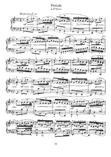 Prelude in F Minor: Prelude in F Minor by Johann Sebastian Bach