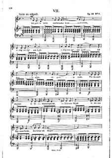No.7 I Do Not Chide You: Piano-vocal score by Robert Schumann