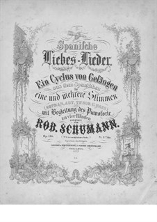 Spanische Liebeslieder (Spanish Love Songs), Op.138: Complete set by Robert Schumann