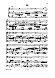 No.9 There is a Playing of Flutes and Violins: Piano-vocal score by Robert Schumann