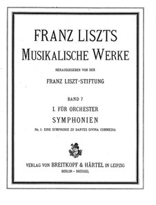 Dante Symphony, S.109: Full score by Franz Liszt