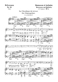 Romances and Ballades, Op.45: No.1 Schatzgräber (Treasure Seeker) by Robert Schumann