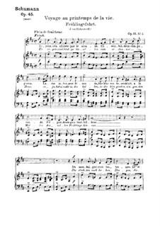 Romances and Ballades, Op.45: No.2 Frühlingsfahrt (Spring Journey) by Robert Schumann