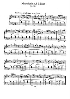 Mazurkas, Op.7: No.4 in A Flat Major by Frédéric Chopin