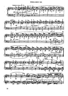 Prelude and Fugue No.12 in F Minor, BWV 881: For piano by Johann Sebastian Bach