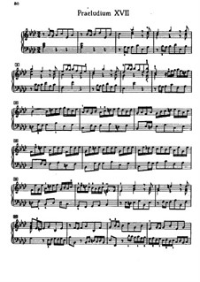 Prelude and Fugue No.17 in A Flat Major, BWV 862: Edition by A. Kreuz by Johann Sebastian Bach