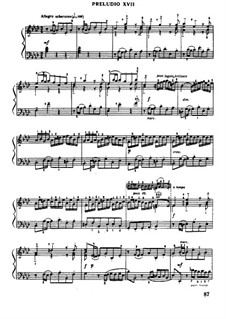 Prelude and Fugue No.17 in A Flat Major, BWV 862: For piano by Johann Sebastian Bach