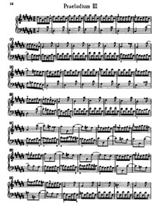 Prelude and Fugue No.3 in C Sharp Major, BWV 848: For piano by Johann Sebastian Bach