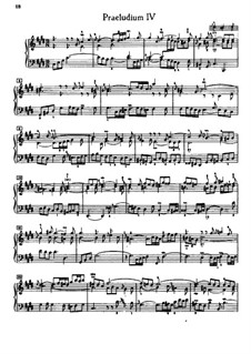 Prelude and Fugue No.4 in C Sharp Minor, BWV 873: For piano by Johann Sebastian Bach