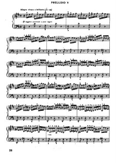 Prelude and Fugue No.5 in D Major, BWV 850: For piano by Johann Sebastian Bach