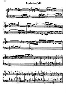 Prelude and Fugue No.7 in E Flat Major, BWV 852: For piano by Johann Sebastian Bach