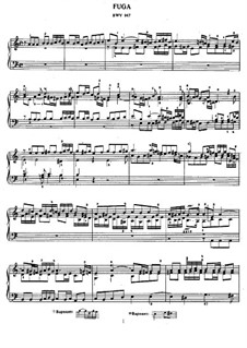 Fugue in A Minor, BWV 947: For piano by Johann Sebastian Bach
