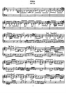 Fugue in A Minor, BWV 958: For piano by Johann Sebastian Bach