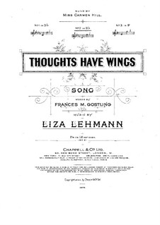 Thoughts Have Wings: Thoughts Have Wings by Liza Lehmann