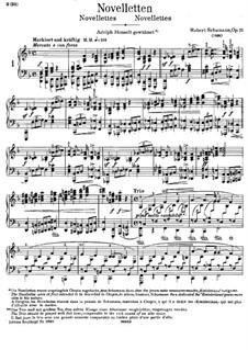 Eight Novelettes, Op.21: Complete set by Robert Schumann