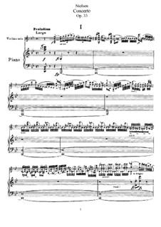 Concerto for Violin and Orchestra in G Major, FS 61 Op.33: Version for violin and piano by Carl Nielsen