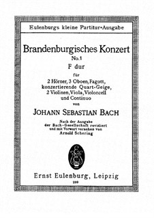 Brandenburg Concerto No.1 in F Major, BWV 1046: Movements I, II by Johann Sebastian Bach