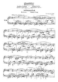 Album Leaves, Op.124: No.16 Schlummerlied (Slumber Song) by Robert Schumann