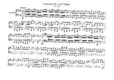 Brandenburg Concerto No.2 in F Major, BWV 1047: Arrangement for piano four hands – parts by Johann Sebastian Bach