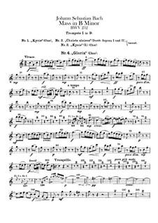 Complete Mass: Trumpets parts by Johann Sebastian Bach