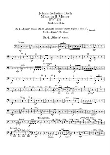 Complete Mass: Timpani part by Johann Sebastian Bach