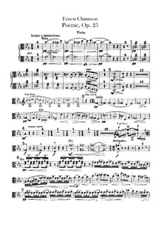 Poem in E Flat Major, Op.25: Violas part by Ernest Chausson