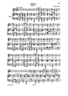 Romances and Songs, Op.59: No.5 Agnes by Johannes Brahms