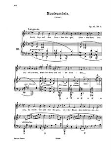 Six Songs, Op.85: No.2 Mondenschein (Moonlight) by Johannes Brahms