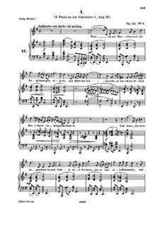Four Serious Songs, Op.121: Nr.4 Wenn ich mit Menschen und mit Engelszungen redete by Johannes Brahms