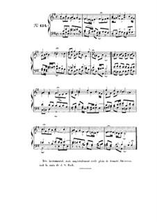 Choix de chorals: Choral No.134 by Johann Sebastian Bach