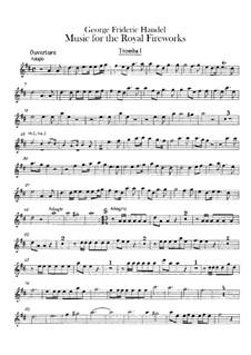Fireworks Music, HWV 351: Trumpets I-III parts by Georg Friedrich Händel
