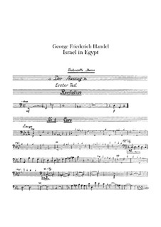 Israel in Egypt, HWV 54: Cello and double bass part by Georg Friedrich Händel