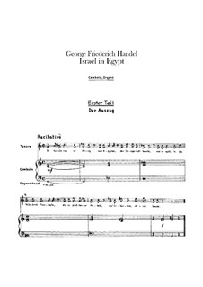 Israel in Egypt, HWV 54: Harpsichord and organ parts by Georg Friedrich Händel
