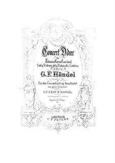 Concerto Grosso No.5 in D Major, HWV 323: Full score by Georg Friedrich Händel