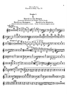 Harold en Italie, H.68 Op.16: Trumpets and cornets parts by Hector Berlioz