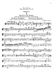 Harold en Italie, H.68 Op.16: Trombones and tuba parts by Hector Berlioz